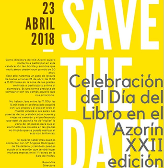 Celebración del Día del Libro en el Azorin XXII edición