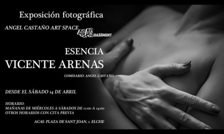 Espacio ACAS_basement comienza su recorrido con la exposición fotográfica «Esencia»de Vicente Arenas