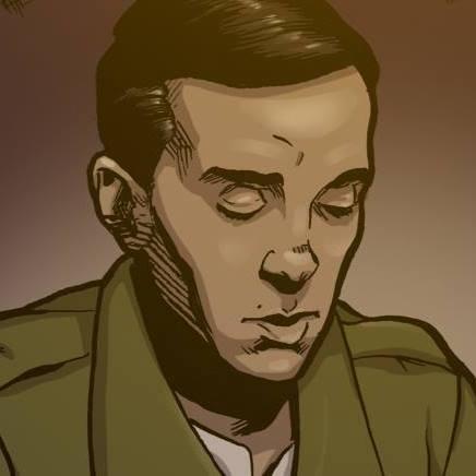 """Miguel Hernandez en el Comic """"1937: Toma de Malaga"""""""