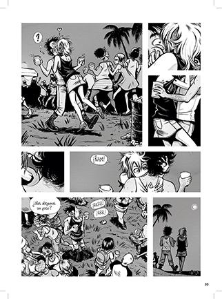 Páginas segundo número Saxífono Comix por Cha
