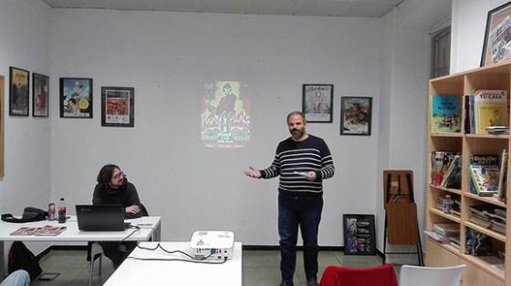 Presentación en el Aula de Cómic UA
