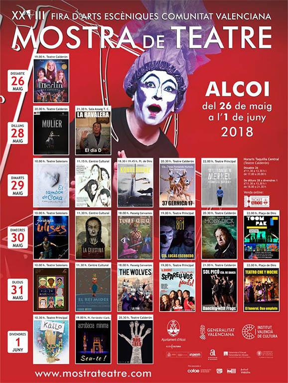 Cartel XVIII Mostrade Teatre d´Alcoi