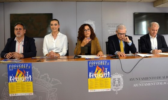 Fogueres Culturals. Rueda de Prensa. Foto: Gabinete Prensa Ayto. Alicante