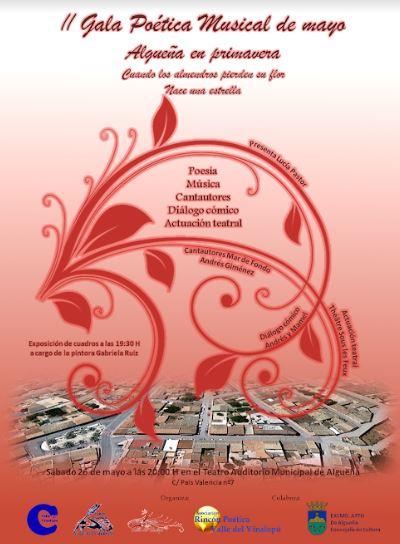 II Gala Poética Musical de mayo en Algueña