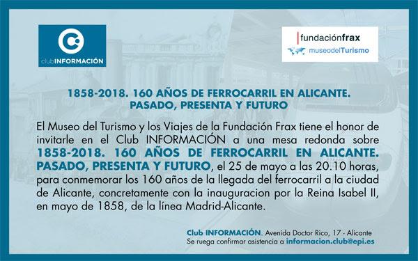Mesa Redonda 160 años de ferrocarril en Alicante INFORMACIÓN
