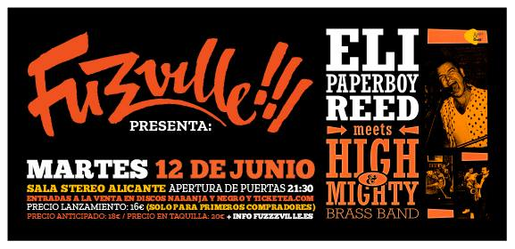 Concierto Eli Paperboy Reed + High & Mighty Brass Band - Sala Stereo