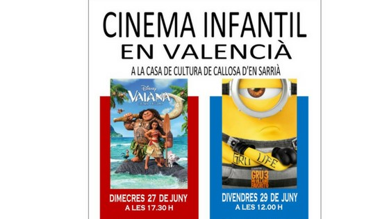 La Casa de Cultura de Callosa d'en Sarrià acull un cicle de Cinema Infantil en Valencià
