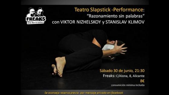 """""""Raonament sense paraules"""" el dissabte 30 de juny en Freaks Arts d'Alacant"""