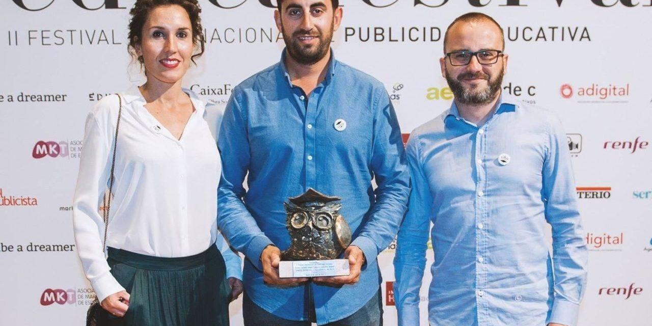 La campaña «Silencio Incómodo» del Ajuntament d'Elx obtiene el Buho de bronce en los Premios EducaFestival