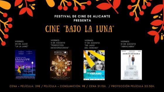 """El Festival de Cinema d'Alacant promou el cicle """"Cine Bajo la Luna"""""""