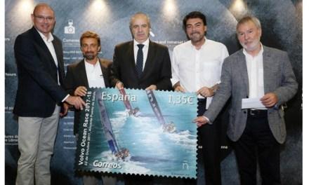 Alacant promociona la VOLVO OCEAN RACE amb un segell emès per Correus