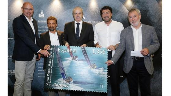Alicante promociona la VOLVO OCEAN RACE con un sello emitido por Correos
