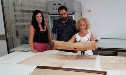Nou pergamins medievals de Guardamar están sent restaurats per l'Institut Valencià de Conservació