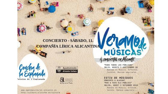 """Concert gratuït de la Companyia Lírica Alacantina en l'auditori de la """"Concha"""" amb cançons de sarsueles"""