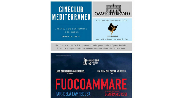 Cine Club Mediterráneo en septiembre en la librería 80 Mundos
