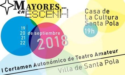 Santa Pola rep el primer certamen autonòmic de Teatre Amateur de Majors els dies 19, 20, 21 i 22 de setembre
