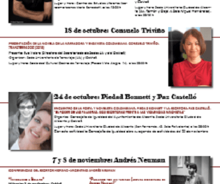 Les escriptores i  escriptors Consuelo Triviño, Pietat Bonnet, Paz Castelló, Andrés Neuman i José Ovejero, en la nova programació del CEMAB