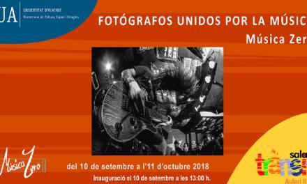 La sala Trànsit de Universitat d'Alacant acull l'exposició «Fotògrafs units per la música»