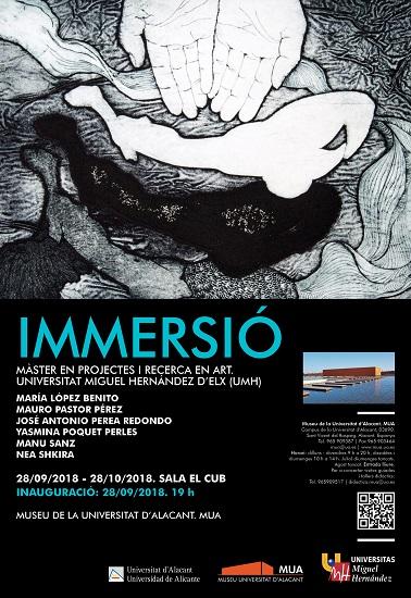 Inauguració al MUA de l'exposició «Immersió»: una manifestació viva i actual