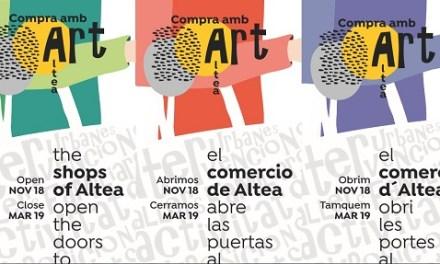 """Las zonas comerciales de Altea se llenarán de arte con el proyecto """"Compra con arte"""""""