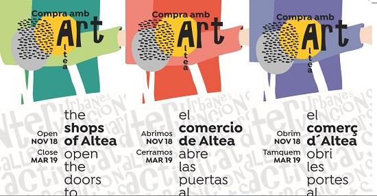Les zones comercials d'Altea s'ompliran d'art amb el projecte «Compra amb art»