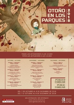 Proposta cultural per a les famílies amb «Tardor en Parcs» a Alacant