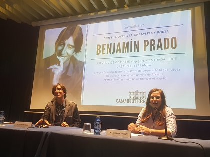 Pequeña crónica de una tarde con Benjamín Prado en la Casa Mediterráneo