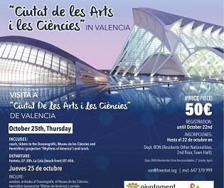 La regidoria de residents d'altres nacionalitats de Finestrat organitza una visita a la Ciutat de les Arts i les Ciències de València