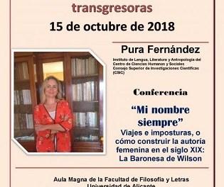 La Universidad de Alicante celebra el lunes 15 el Día de las escritoras con el Club de lectura y la conferencia de Pura Fernández