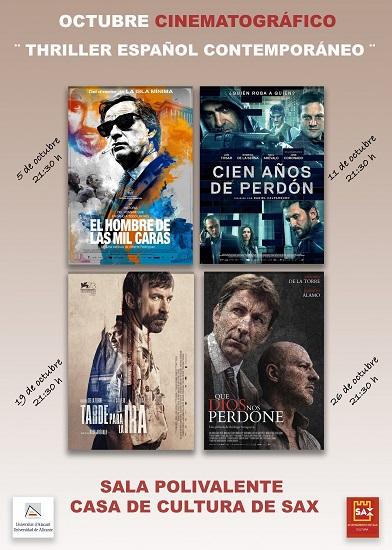 La Universidad de Alicante programa un ciclo de cine sobre el thriller español contemporáneo en Sax