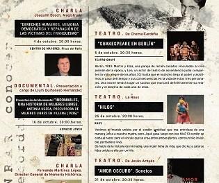 Xarrades, teatre i un documental en les Jornades d'Aproximació a la Memòria Històrica a Villena
