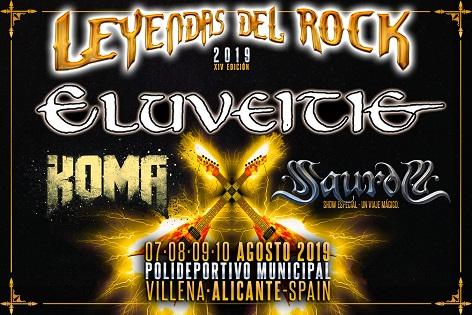 """Eluveitie, Koma i Saurom, noves confirmacions de """"Leyendas del Rock"""" 2019 a Villena"""