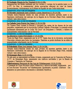 Les Partides Rurals d'Alacant presenten el seu programa d'activitats de Nadal