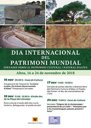Altea celebra el Día Internacional del Patrimonio Mundial