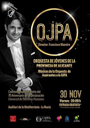Concert de l'Orquestra de Joves de la Província d'Alacant–OJPA en el Auditori de la Mediterrània