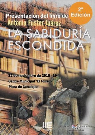 """El benidormense Antonio Fuster Juárez presenta en el Torrejó el seu llibre """"La sabiduría escondida"""""""