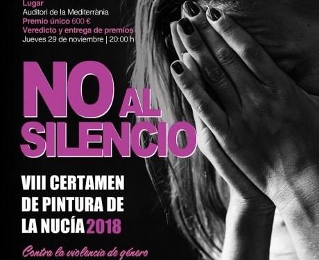 VIII Certamen de Pintura Contra la Violència de Gènere «No al Silenci» 2018 de La Nucia