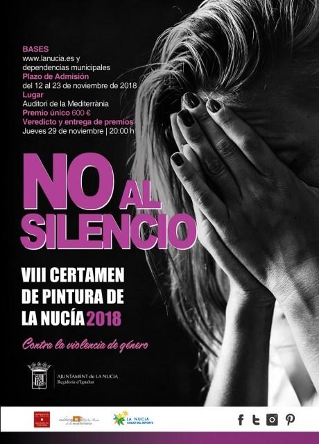 VIII Certamen de Pintura Contra la Violencia de Género «No al Silencio» 2018 de La Nucía