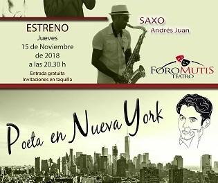 """""""Poeta a Nova York"""" de Federico García Lorca es `estrena´ hui 15 de novembre en la Sala Llevant de l´Auditori de la Mediterrània"""