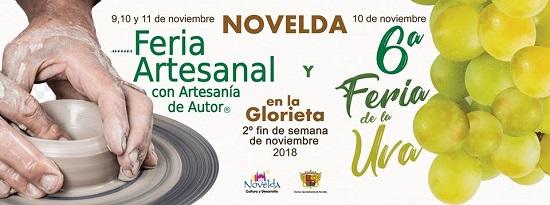 La Glorieta de Novelda acogerá las Ferias Artesanal y de la Uva