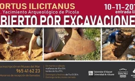 Abierto por excavaciones: el 10 de noviembre se muestran los hallazgos del yacimiento La Picola de Santa Pola en unas visitas gratuitas