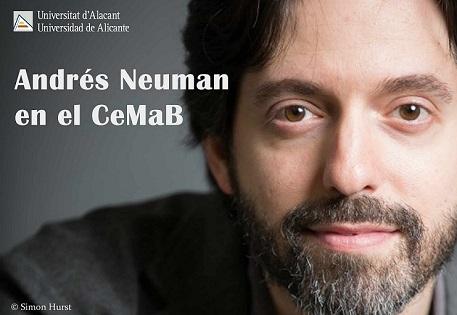 El escritor Andrés Neuman ofrecerá una conferencia en la UA y una lectura comentada en la Sede Universitaria de Torrevieja