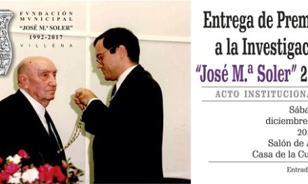 Lliurament de premis de la Fundació José María Soler 2018 de Villena