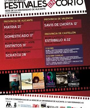 Festivales en Corto que organiza la asociación Mediterrània Audiovisual