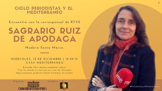 La corresponsal Sagrario Ruíz de Apodaca visita Casa Mediterráneo