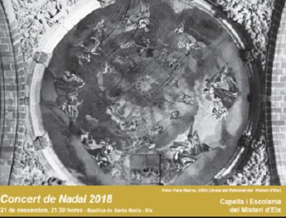 La Escolanía y Capella del Misteri conjugan obras populares y de compositores clásicos en su concierto de Navidad
