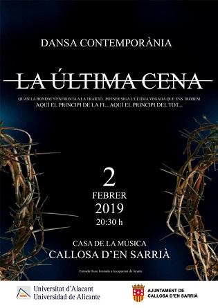 El Aula de Danza de la Universidad de Alicante presenta «La última cena» en Callosa d'en Sarrià
