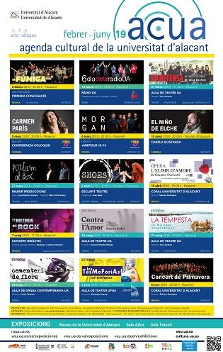 Carmen París, el Niño de Elche, Morgan y los estrenos de las Aulas de Cultura, en la nueva programación cultural de la Universidad de Alicante