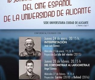L'actor José Luis Gómez inaugura les IV Jornades professionals del cine espanyol de la Universitat d'Alacant