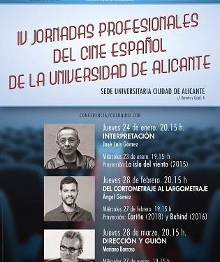 El actor José Luis Gómez inaugura las IV Jornadas profesionales del cine español de la Universidad de Alicante